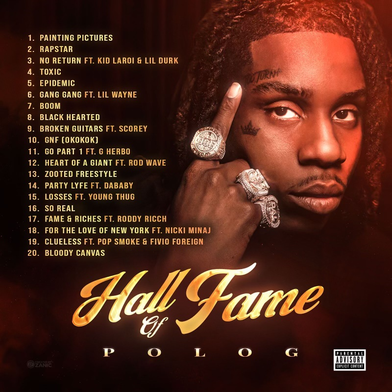 ALBUM: Polo G - Hall Of Fame Download Full Mp3 + Zip