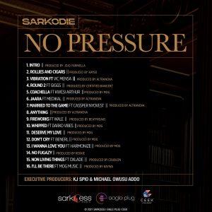 No Pressure Album Tracklist By Sarkodie Ghana
